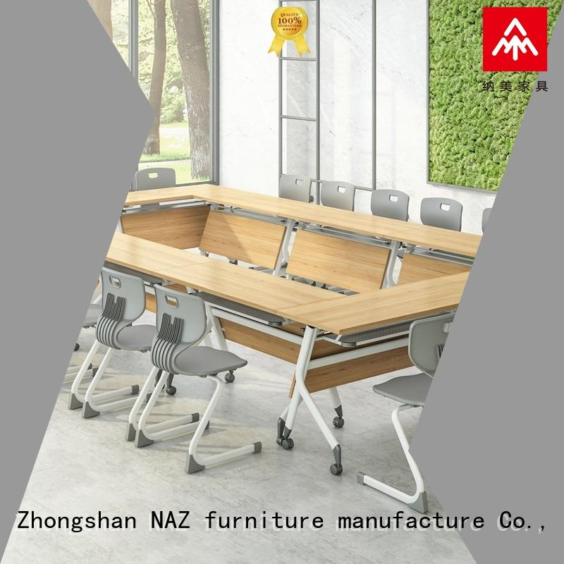 NAZ furniture comfortable conference tables on wheels for training room