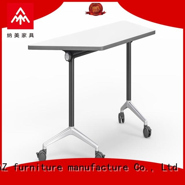 trapezoid foldable training table movable for conference for office