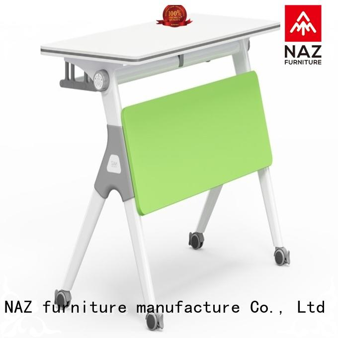 NAZ furniture trapezoid training room desks for sale for school