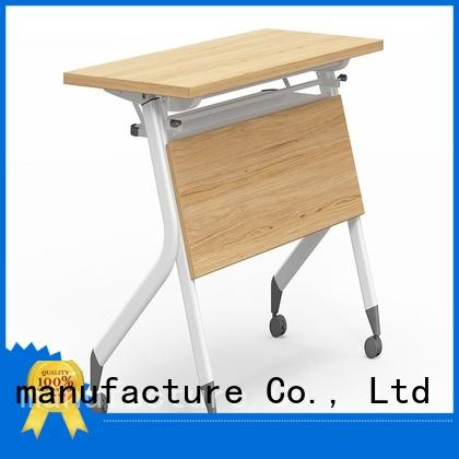NAZ furniture trapezoid training tables with wheels with wheels for office