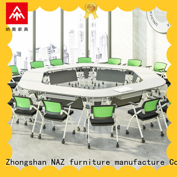 NAZ furniture durable portable conference room tables on wheels for meeting room