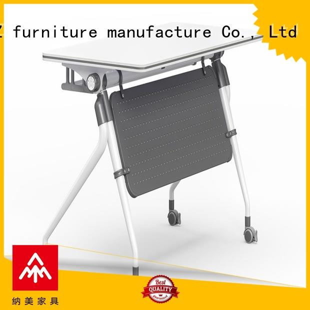writing office training furniture ft008 with wheels for home