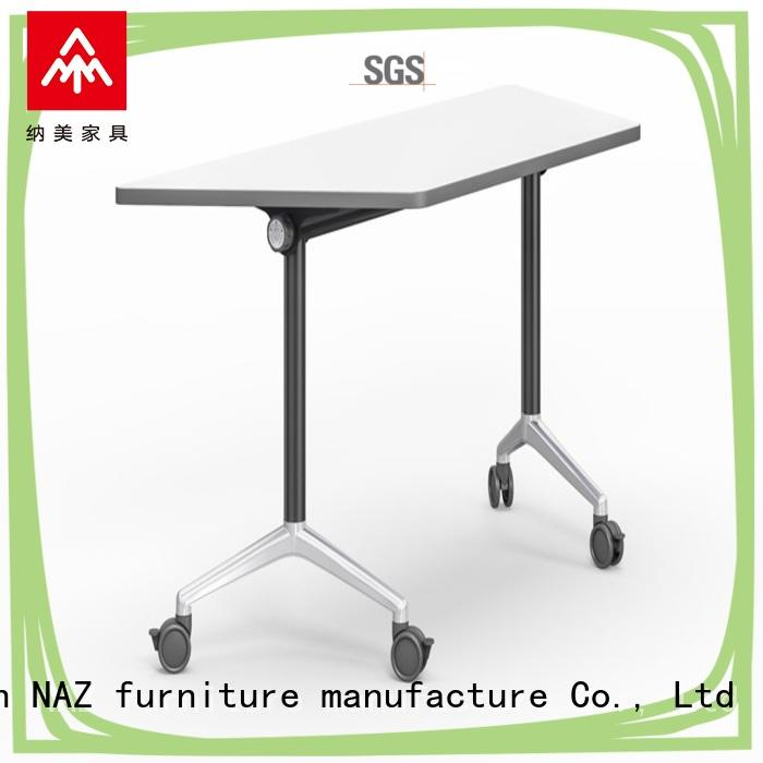NAZ furniture computer computer training tables with wheels for training room