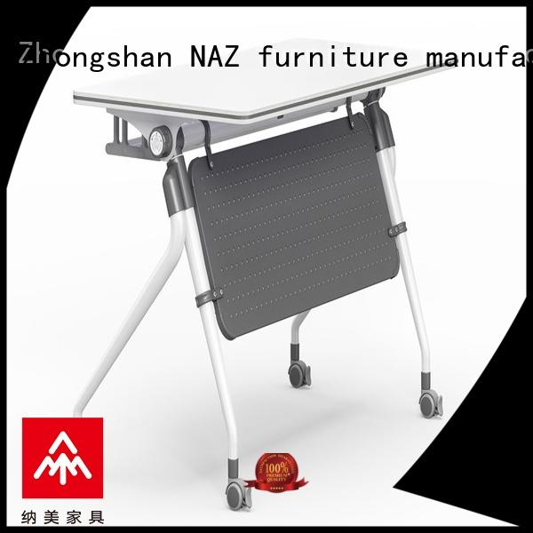 NAZ furniture trapezoid training table design multi purpose for office
