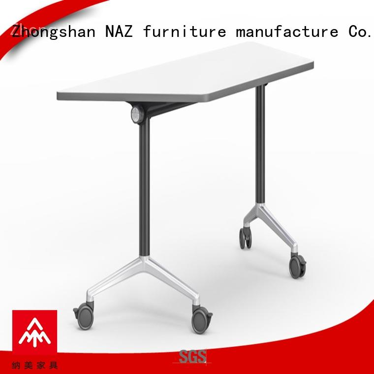 NAZ furniture writing training tables and chairs with wheels for school