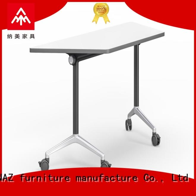 NAZ furniture front office training tables with wheels for school