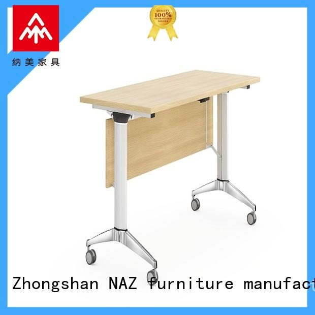 NAZ furniture aluminum mobile training tables supply for office