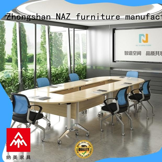 NAZ furniture durable u shaped conference table on wheels for office