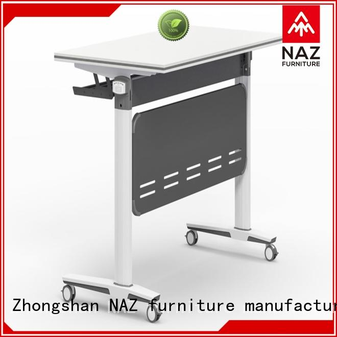 NAZ furniture writing office training furniture with wheels for office
