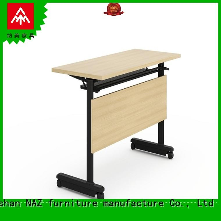 NAZ furniture trapezoid training desk with wheels meeting room