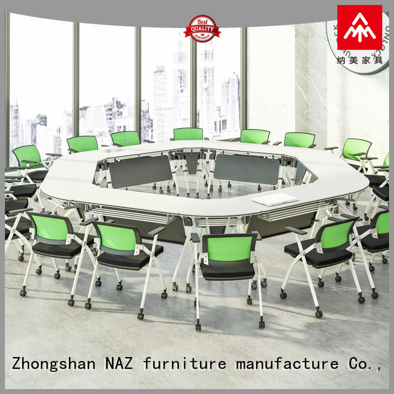 NAZ furniture durable conference tables on wheels for training room