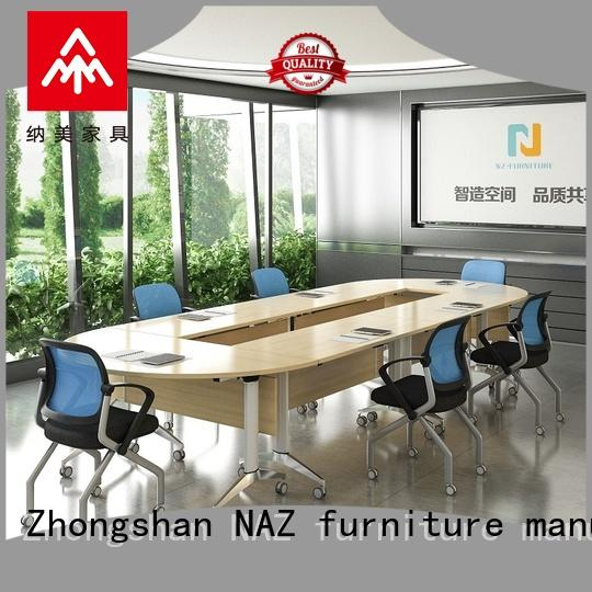 NAZ furniture movable conference room tables folding for conference for training room