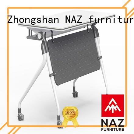 trapezoid training room tables ft013 with wheels for office