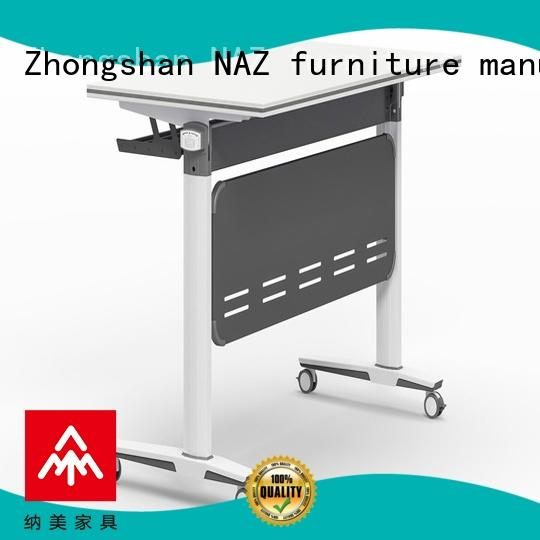 NAZ furniture writing training folding table mobile for school
