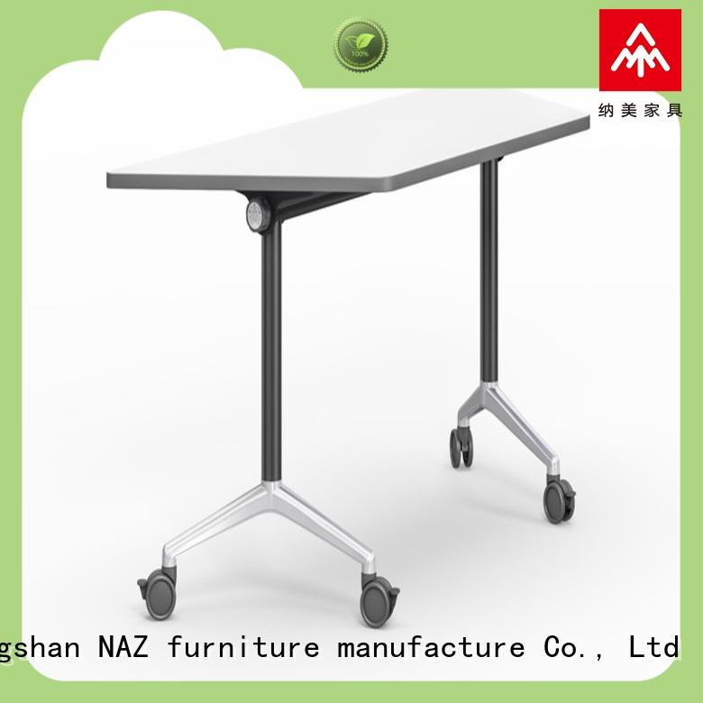 NAZ furniture computer computer training tables with wheels for meeting room