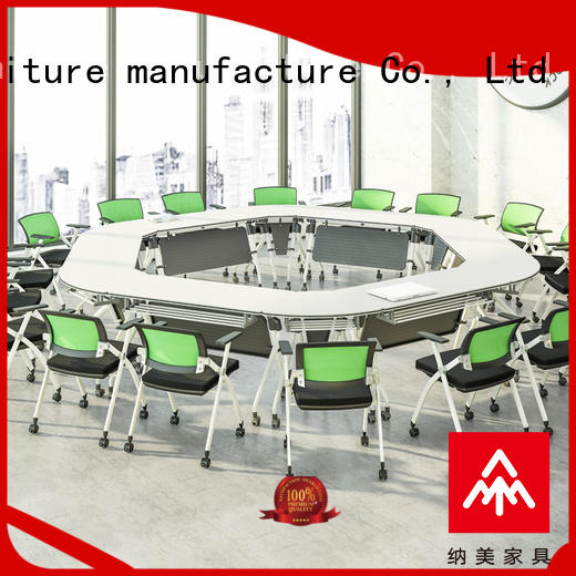 NAZ furniture durable folding conference room tables with wheels on wheels for office