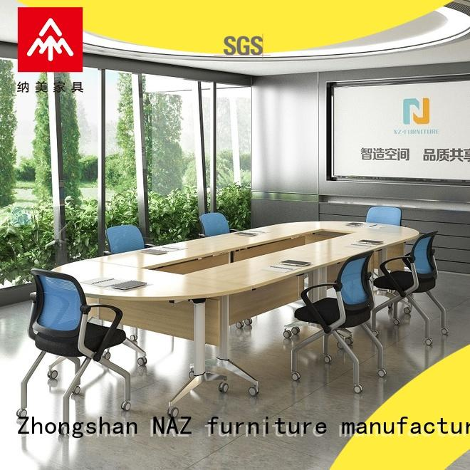 NAZ furniture ft011c folding conference tables on wheels for meeting room